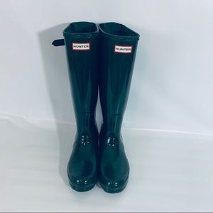 Hunter Green Boots Rainboots.